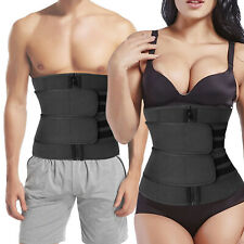 Waist Trainer Body Shaper Sauna Sweat Belt Tummy Control Slimming For Women Men
