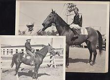 1940s Lot Cowboy Horse Racing B&W Photos Bill Hall Forrest Frosty Burrows Idaho