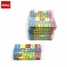 Set 120 Pezzi Mollette Pinze Bucato Panni Plastica ExtraForte Colorate hmj