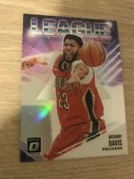 Anthony Davis 2018-19 Optic League Leaders Holo Silver Prizm #5 Pelicans Lakers