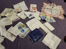 Vintage Handkerchief Lot 21 Assorted Styles and Sizes