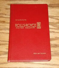 Original 1966 Rolls Royce Silver Shadow Owners Handbook 66 Excellent Condition