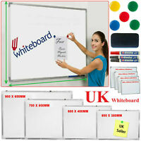 MAGNETIC WHITEBOARD DRY WIPE DRAWING BOARD & ERASER OFFICE SCHOOL MEMO NOTICE
