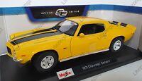 NEW MAISTO 1:18 Diecast Model Car Special Edition 1971 Chevrolet Camaro Yellow