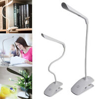 Cilp-on Stand USB Desk Lamp Touch Sensor LED Table Study Reading Light Dimmable
