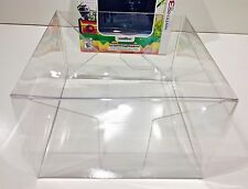 1 Box Protector for Chibi-Robo / Poochy & Yoshi Nintendo 3Ds Ntsc Clear Case