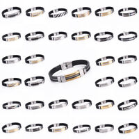 Fashion Men`s Stainless Steel Link Chain Bracelet Cuff Bangle Wristband Jewelry