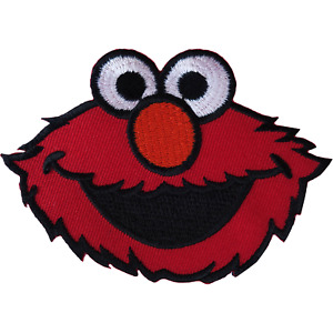 Sesame Street Elmo Patch Embroidered Badge Iron Sew On T Shirt Bag Jacket Jeans