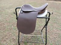 "Lovatt & Ricketts 16 3/4"" Dressage Saddle Brown Close Contact Spring Tree"