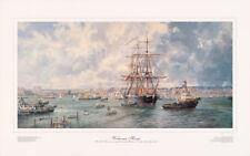 Welcome Home - HMS Warrior by Barry Peckham Marine fine art print