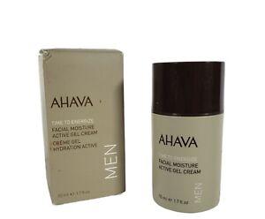 Ahava MEN Time To Energize Facial Moisture Active Gel Cream NEW 50ml 1.7 fl oz