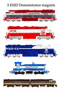 Electro-Motive Demonstrator Locomotives set of 5 magnets Andy Fletcher
