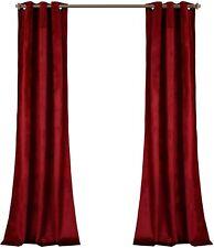 "Lush Decor Red Prima Velvet Curtains Room Darkening Window Panel Set 84"""
