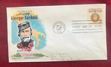 JOHN'S DEALS - US - 1960 FDC SC #1169 8c GIUSEPPE GARIBALDI - FLUEGEL CACHET
