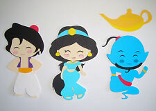 Princess Jasmine  Aladdin Genie Die Cut Cut Paper Doll Scrapbook Embellishment