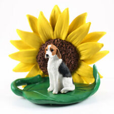 American Fox Hound Sunflower Figurine