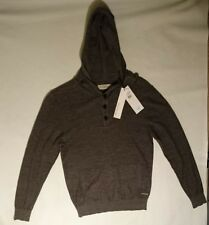 Calvin Klein Hooded Thin Knit Interface Jersey Top RRP £97 BRAND NEW