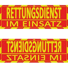 Rettungsdienst Einsatz Sonnenblende Wendeschild WSB2 (Dachaufsetzer, Dachschild)