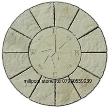 1.2m New Buff Compass Rotunda paving circle patio slab stones Delivery exception