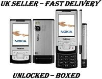Nokia 6500 Slide Silver New condition  3G Sim Free Unlocked Camera Mobile Phone
