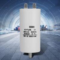 3PC CBB60 AC 450V 50//60Hz 40uF 8mm Thread Non Polar Polypropylene Film Capacitor