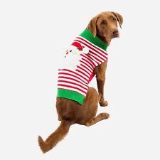 Christmas Santa Sweater Shirt Dog Red Green Stripe SimplyDog Medium Holiday