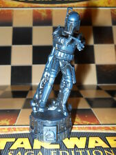 Black 2005 STAR WARS Saga Replacement Chess Piece Jango Fett Knight Figure Horse