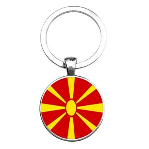 Macedonian Key Ring  Flag Orthodox Metal Macedonia