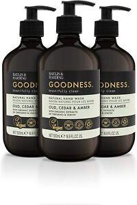 Baylis & Harding Goodness Oud, Cedar & Amber, 500ml Body Wash, Pack of 3 NEW
