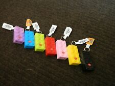 Red Laser Pointer Key Chain LED Light Torch Building Block Shaped Brick 7 Colors