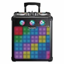 Numark Party Mix Pro DJ Controller & Bluetooth Active Powered PA Speaker Hf125