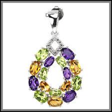 Citrine Amethyst Sterling Silver Fine Jewellery