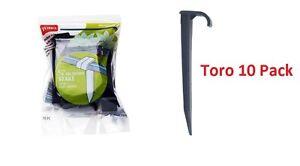 "10 Toro Blue Stripe 1/2"" Irrigation Drip Hose Drip Irrigation Tie-Down Stakes"