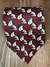 Tie, Peanuts Golf SNOOPY GOLFER Woodstock Green Tan Red Silk USA