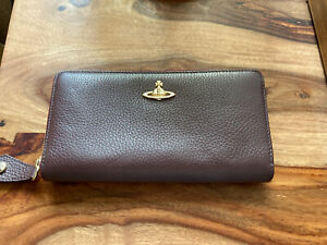 Vivienne Westwood large tawny brown leather wallet