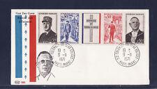 enveloppe 1er jour  bande général de Gaulle Colomey les deux églises    1971
