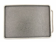 Distressed Blank Rectangle Metal Belt Buckle