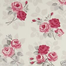 Clarke and Clarke Studio G English Rose in Grey Upholstery Curtain Craft Fabric