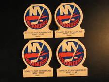 Lot (4) 1980 Stanley Cup Champions Islanders Matchbooks