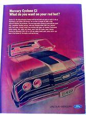Mercury Cyclone CJ 1969 428 Cobra Jet Automobile Original Print Ad Muscle Car