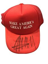 New ListingDonald Trump Signed Red Maga Hat With Coa