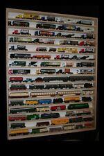 V82a- Vitrine murale bois brut 90 x 115 x 6 cm étagère collection miniature moto