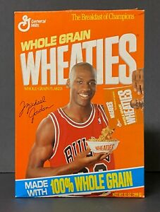 "Michael Jordan ""Pouring Cereal"" Empty Wheaties Box Chicago Bulls, 1990s, NBA"