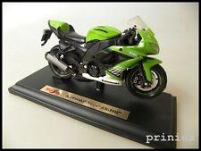 Maisto 1:18 39300 Kawasaki Ninja zx-10r verde Green-White motocicleta bike nuevo embalaje original