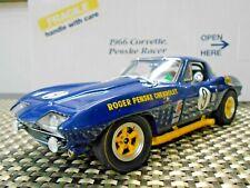 "Danbury Mint 1:24 ""Sunoco Blue"" 1966 Penske Racer Corvette"