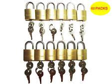 LOT OF 60 small brass padlock (20MM) Mini Tiny Lock Box Jewelry drawer KEY ALIKE
