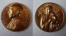 MISTRUZZI medaglia bronzo  PIO XII MADONNA CON BAMBINO