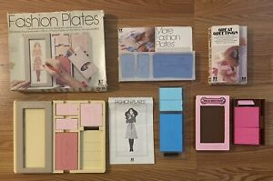 Vintage 1978 Tomy Fashion Plates, More Fashion Plates and Great Greetings