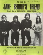 "THE MINT   Rare 1971 Aust Only OOP Orig Pop Sheet Music ""Jake Bender's Friend"""
