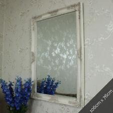 Espejos decorativos rectangulares crema para el dormitorio